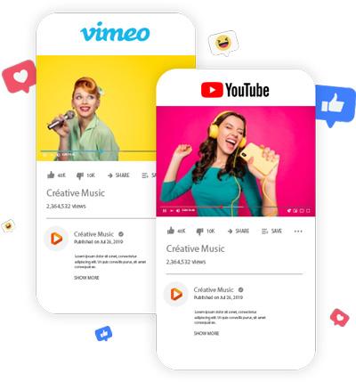 Morceaux 100 % sans droits d'auteur sur YouTube et Vimeo